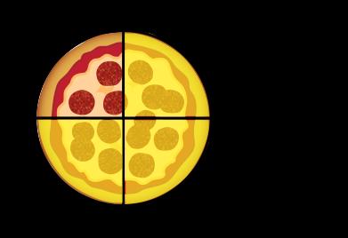 trois quarts de pizza
