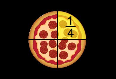 un quart de pizza