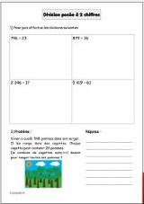 Exercices de maths : Division (cm1)