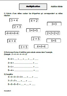 Exercices De Maths Multiplication Cm1