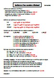 Ecritures d'un nombre décimal - Correction