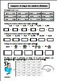 Comparer des nombres décimaux