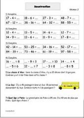 Exercices de maths : Soustraction (cm1)