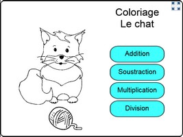 coloriage chat Opérations