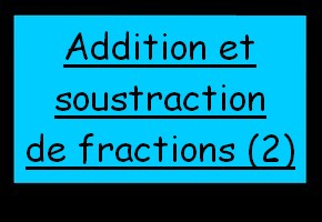 Simplifications de fractions