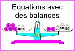 Balances et équations