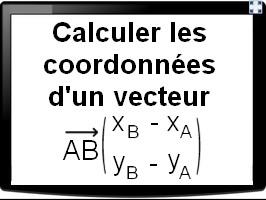 Calculer les coordonnées d'un vecteur