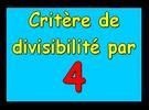 Critère de divisibilité par 4