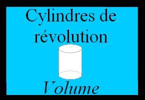 Volume d'un cylindre de révolution