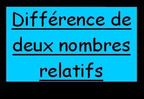 Calculer la différence de deux nombres relatifs