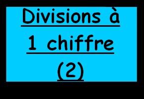 Exercice de maths divisions pos es un chiffre 1 - Division a imprimer ...