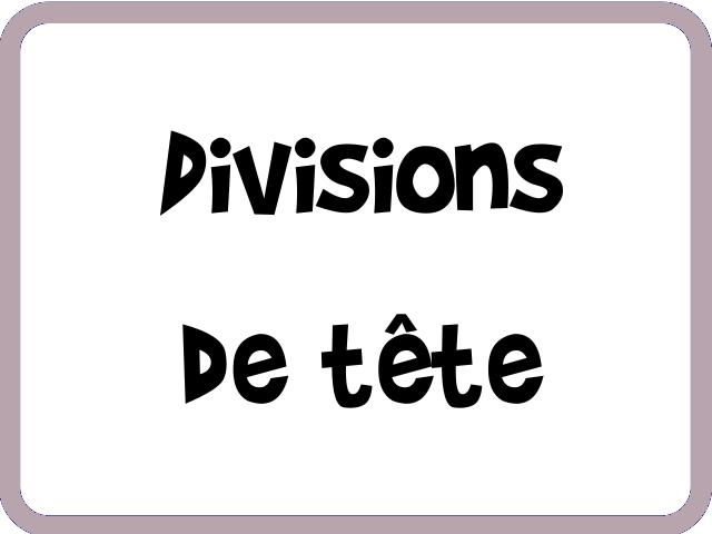 divisions de tête