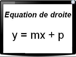 Déterminer l'équation réduite d'une droite passant par deux points