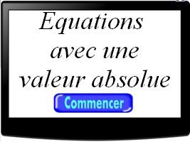 Equations contenant une valeur absolue