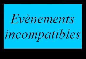 Evènements incompatibles