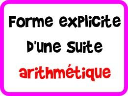 Déterminer la forme explicite d'une suite arithmétique