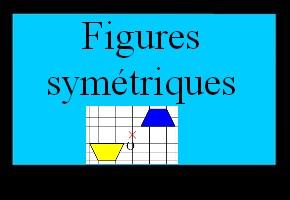 Reconnaître deux figures symétriques par rapport à un point