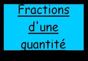 Fractions d'une quantité