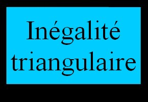 In�galit� triangulaire