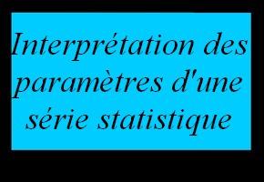 Interprétation des paramètres d'une série statistique