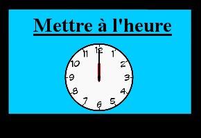 Exercice de maths : Lecture de l'heure