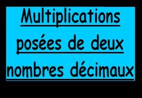 multiplication posée de nombres décimaux