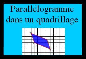 Placer le dernier sommet d'un parallélogramme