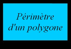 Périmètre d'un polygone