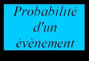 Probabilité d'un évènement