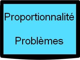 Proportionnalité - problèmes