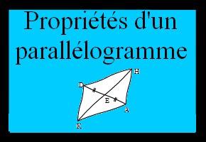 Propriétés d'un parallélogramme