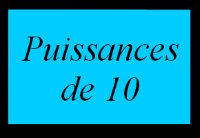 Puissances de 10