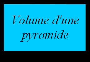 Volume d'une pyramide