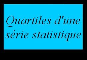 Quartiles d'une série statistique simple