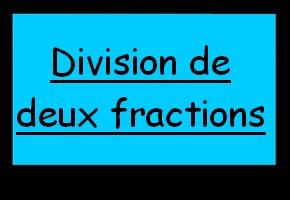 Division de fractions