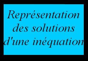 Représentation des solutions d'une inéquation