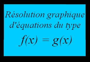 R�solution graphique d'�quations du type f(x)=g(x)