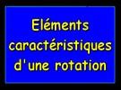 Éléments caractéristiques d'une rotation