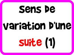 Sens de variation d'une suite (méthode 1)