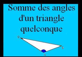 Calculer la mesure du troisième angle d'un triangle quelconque