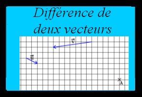 Différence de deux vecteurs