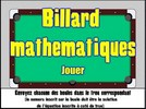 Billard - équations