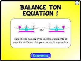 Balance ton équation