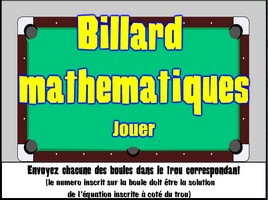 Billard - équations