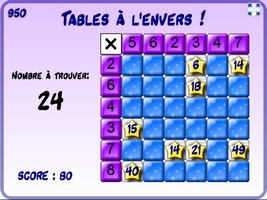 Tables à l'envers
