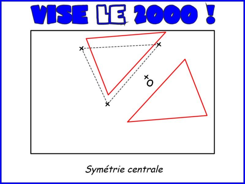Vise le deux-mille (symétrie centrale)