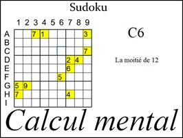 Sudoku calcul mental
